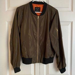 Dark Olive Bomber Jacket